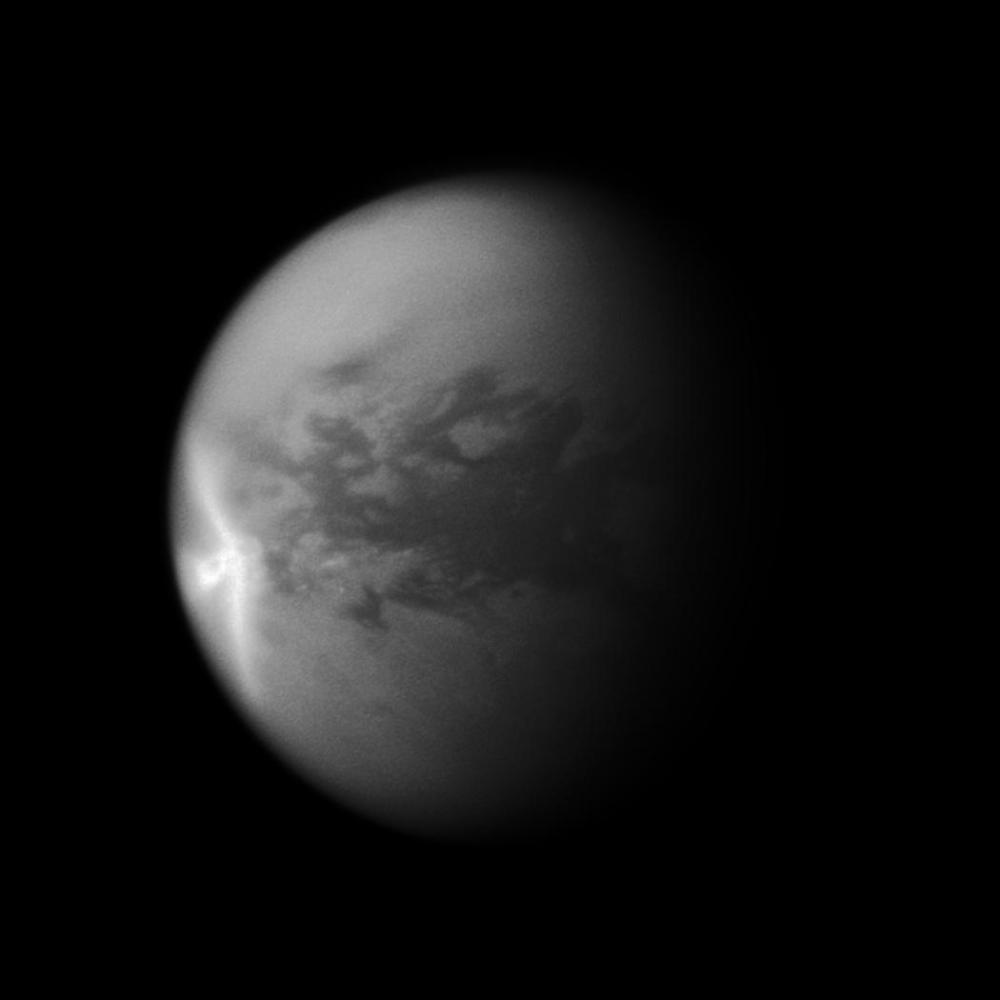 Titan's Arrow-Shaped Storm Credit: NASA/JPL/SSI