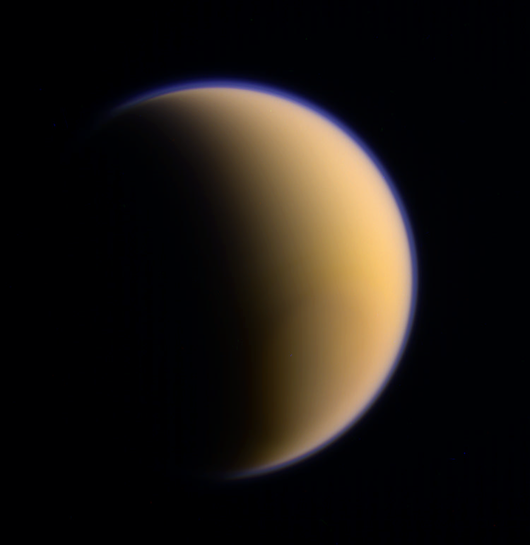 Titan's 92nd Flyby, Credit: NASA/JPL/SSI/ composite by Val Klavans